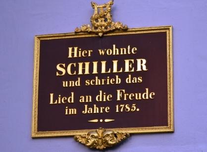 Dichter Friedrich Schiller in Leipzig
