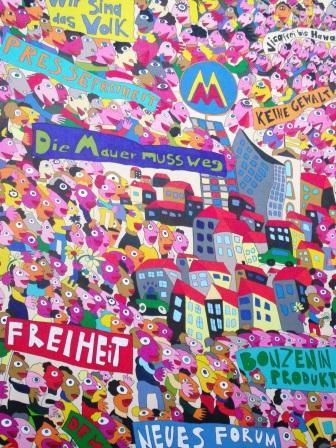 Ilustration Friedliche Revolution 1989 in Leipzig