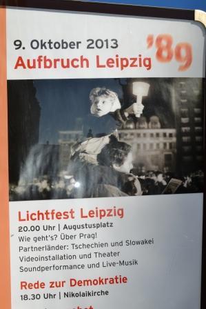 Lichtfest Leipzig im Oktober 2013