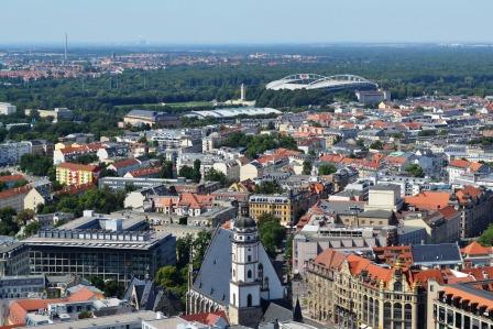 Innenstadt Leipzig mit Thomaskirche