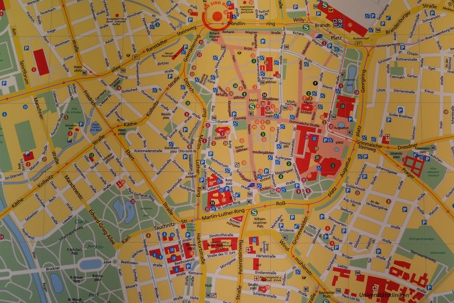 City Map - Stadtplan Leipzig