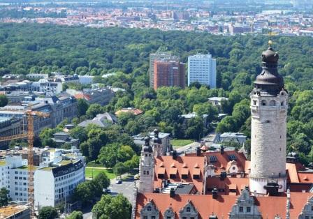 Seen & Parks in Leipzg - Clara-Park von oben