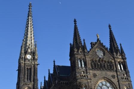 Peterskirche Leipzig mit Kirchturm