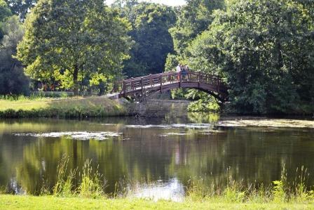 Johannapark zu Leipzig - Brücke