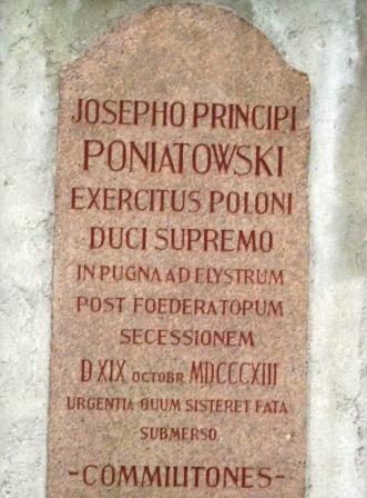 Poniatowski - ehemaliges Grab auf dem Johannisfriedhof Leipzig