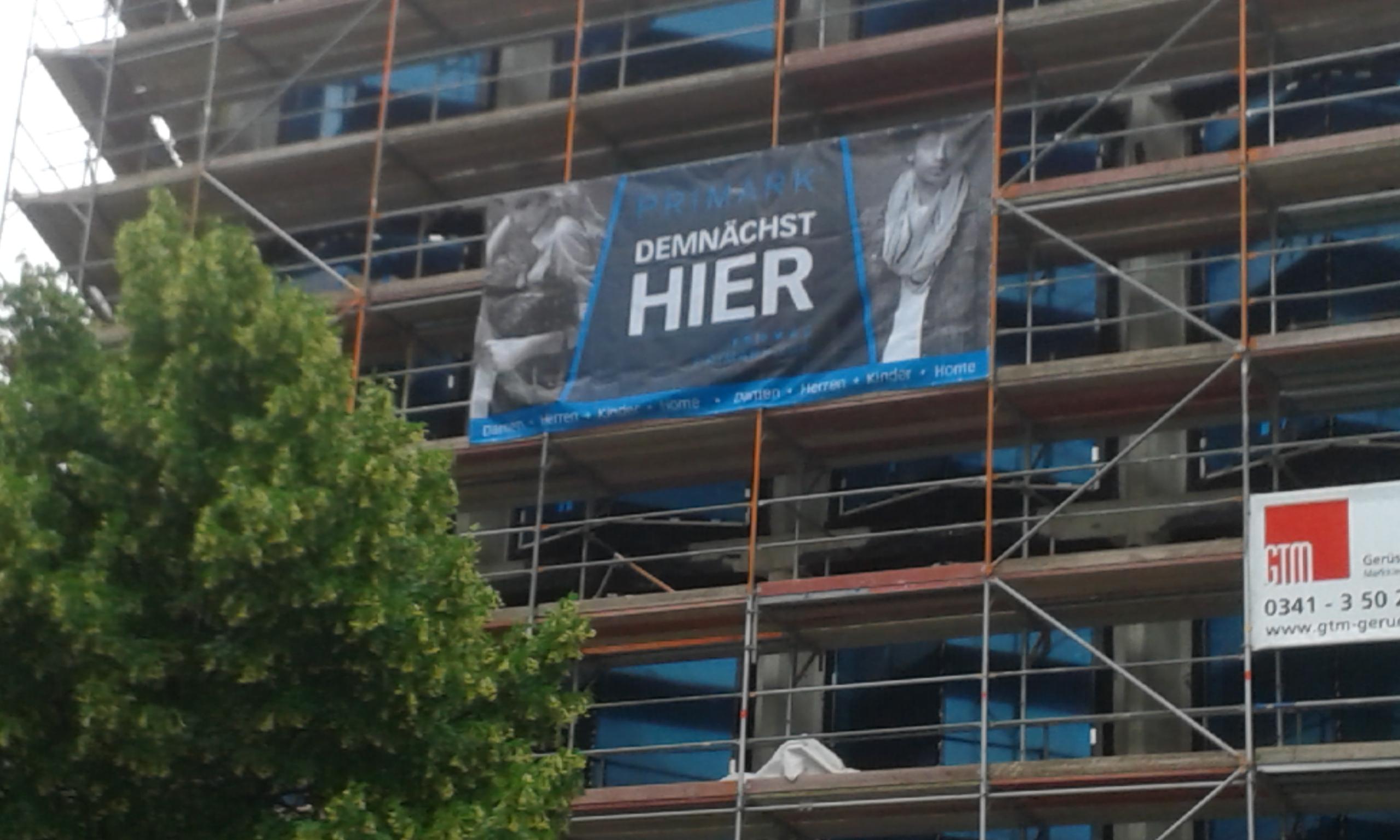 Leipzig Primark: Demnächst auf der Hainspitze