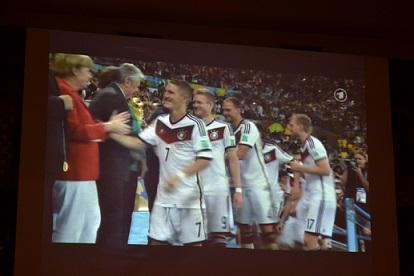 Public Viewing in Leipzig 2014 - Siegerehrung der Weltmeister
