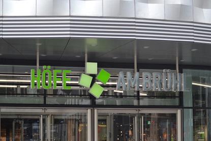 Haupteingang Höfe am Brühl Leipzig