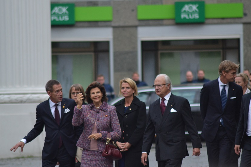 König Carl Gustav und Silvia von Schweden in Leipzig